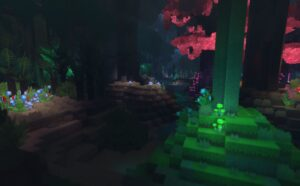 Hytale Night Forest Trees