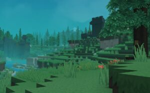 Hytale river and trees