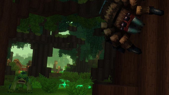 Hytale Spiders in Trees