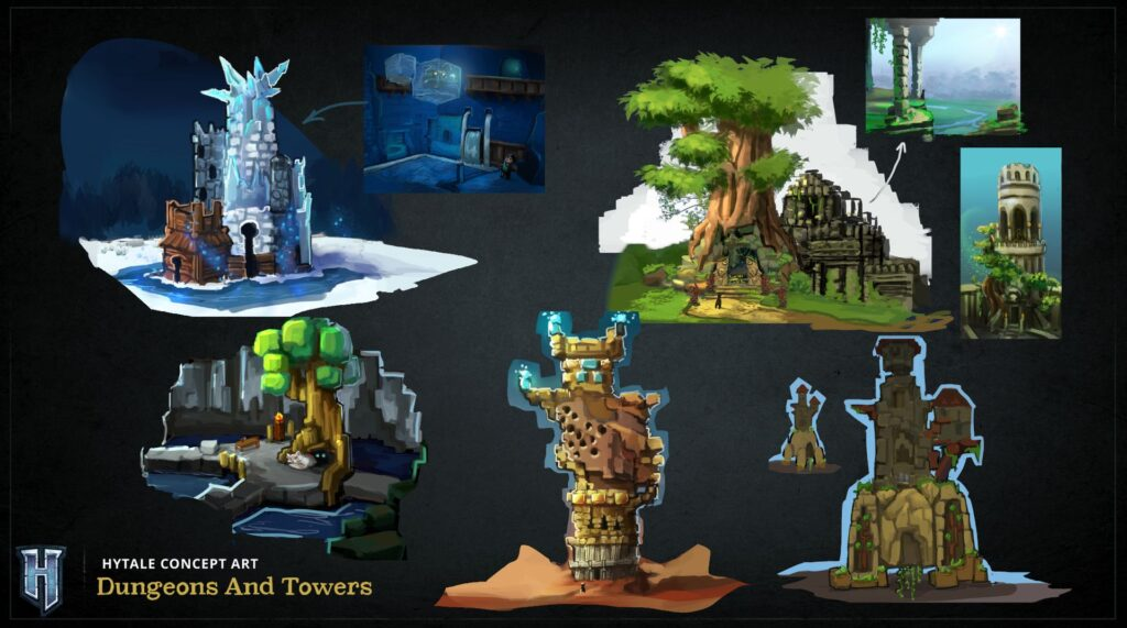 hytale Dungeons and towers