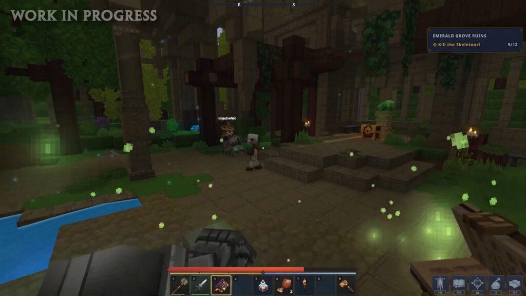 Emerald Grove ruins Hytale