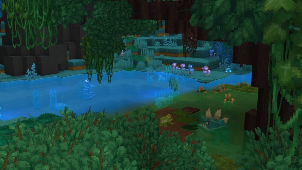 Hytale Frogs next to a River