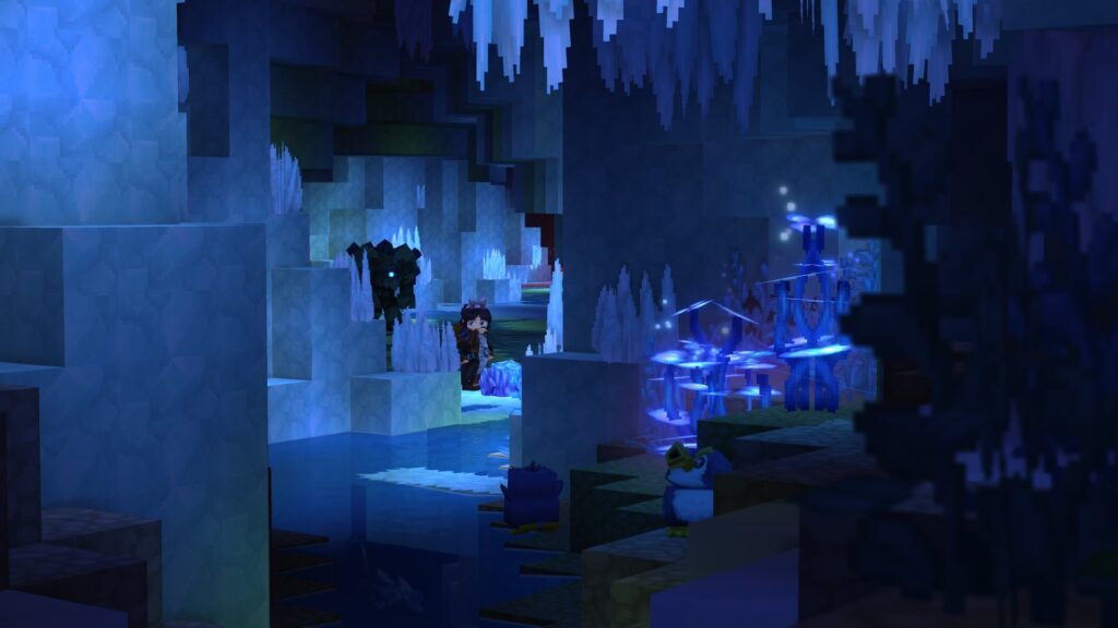 Hytale Ice Cave with penguins