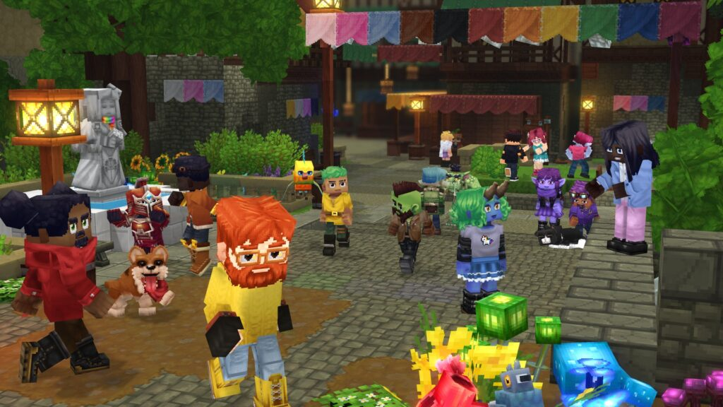 Hytale Town with Players